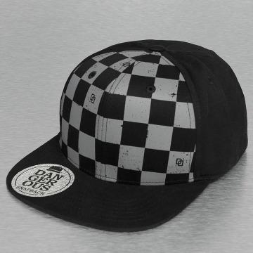 Dangerous DNGRS Snapback Caps Plaid czarny
