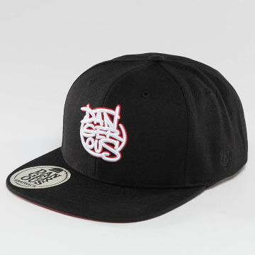 Dangerous DNGRS Snapback Caps LGNDZ Logo musta