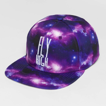 Dangerous DNGRS Snapback Caps Galaxy Fly High purpuranpunainen