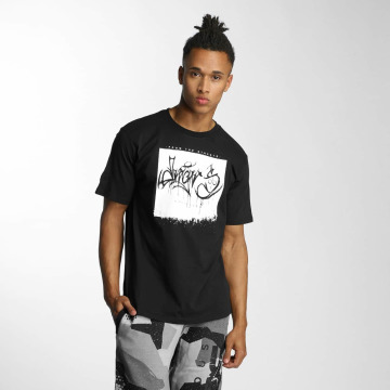 Dangerous DNGRS T-Shirt From The Streets Throw Up black
