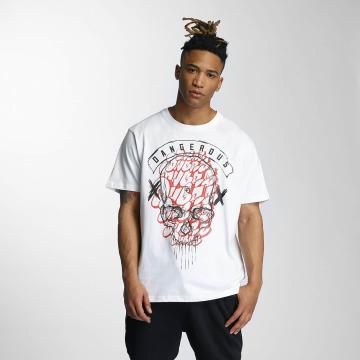 Dangerous DNGRS T-Shirt Skully blanc