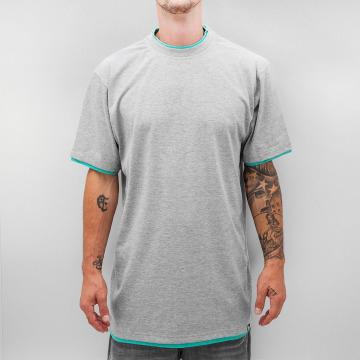 Dangerous DNGRS T-shirt longoversize Two Tone gris