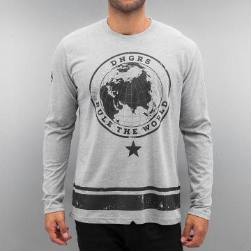 Dangerous DNGRS T-Shirt manches longues Rule The World gris