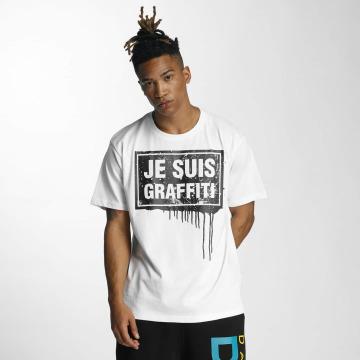 Dangerous DNGRS T-Shirt Je Suis Graffiti weiß