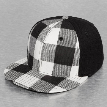 Decky USA Casquette Flex Fitted Plaid Flat Bill noir