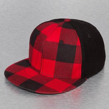 Decky USA Flexfitted Cap Plaid Flat Bill rosso