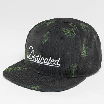 DEDICATED Snapback Cap Dark Leaves nero