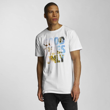 DEDICATED T-skjorter GVO Palms hvit
