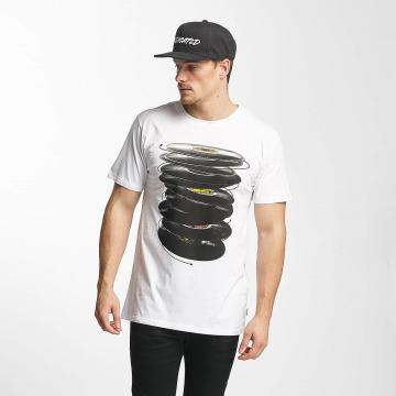 DEDICATED T-skjorter Vinyl Spin hvit