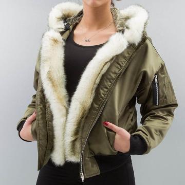 DEF Bomber jacket Fake Fur olive