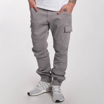 DEF Pantalone chino Cargo grigio