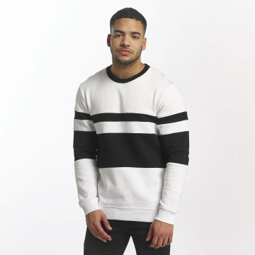 DEF Pullover Striped weiß