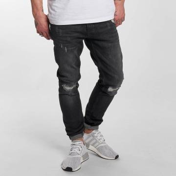DEF Slim Fit Jeans Destroyed šedá