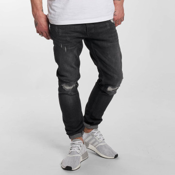 DEF Slim Fit Jeans Destroyed grå