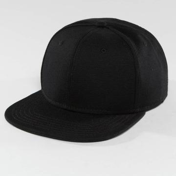 DEF Snapback Caps Basic čern