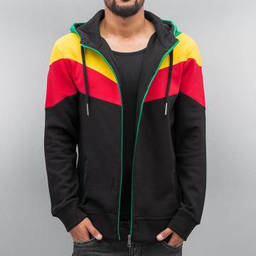 DEF Zip Hoodie Rasta black
