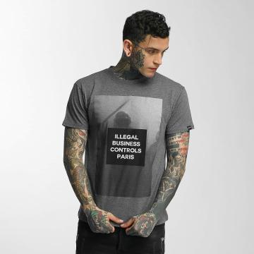 Defend Paris T-Shirt Nightstick grey