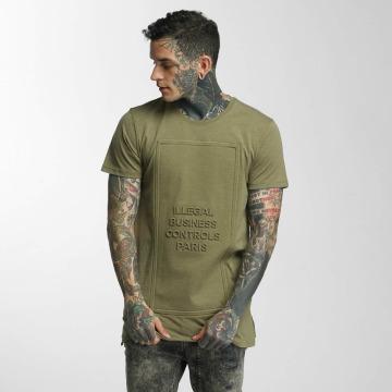 Defend Paris T-shirts Business 3D khaki
