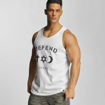 Defend Paris Tank Tops Paris CO valkoinen
