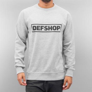 DefShop Пуловер Logo серый