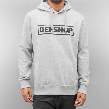 DefShop Felpa con cappuccio Logo grigio