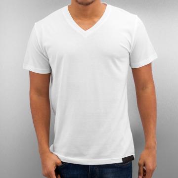 DefShop T-shirt Basic V-Neck bianco
