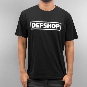 DefShop t-shirt Logo zwart
