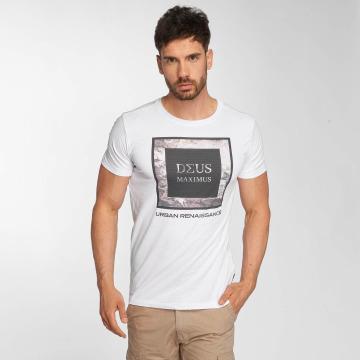 Deus Maximus T-Shirt Fiori blanc
