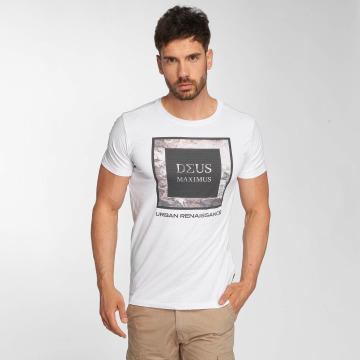 Deus Maximus T-Shirt Fiori white