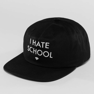 Diamond snapback cap I Hate School zwart