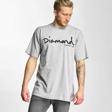 Diamond t-shirt OG Script grijs
