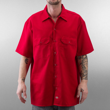 Dickies Chemise Shorts Sleeve Work rouge