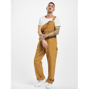 Dickies Jeans larghi Bib Overall Rinsed marrone