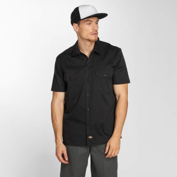 Dickies Shirt Short Sleeve Slim Work black