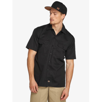 Dickies Shirt Shorts Sleeve Work black