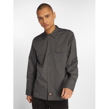 Dickies Shirt Slim Work gray