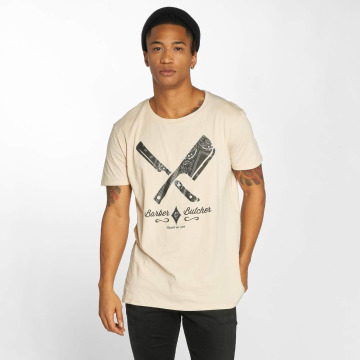Distorted People T-shirt Barber & Butcher Paisley beige