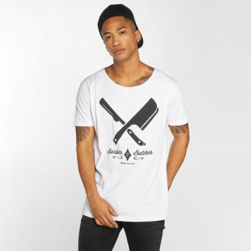 Distorted People T-Shirt Barber & Butcher white
