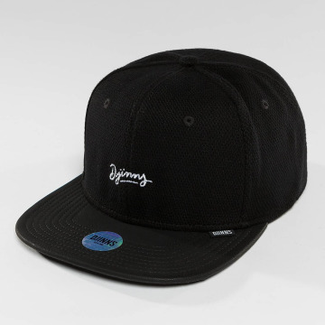 Djinns Casquette Snapback & Strapback 6 Panel Piki Leather noir