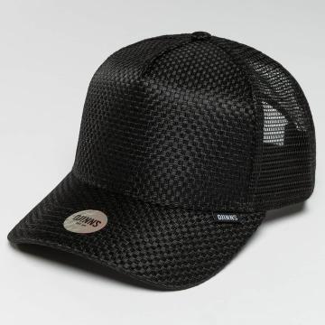 Djinns Casquette Trucker mesh HFT Woven Bast noir