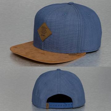 Djinns Snapback Cap Buckle Linen blu