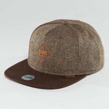 Djinns Snapback Cap Spotted Gum brown