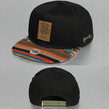 Djinns Snapback Cap 6P Jersey Aztec schwarz