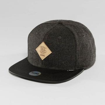 Djinns Snapback Cap Flannel 6 Panel schwarz