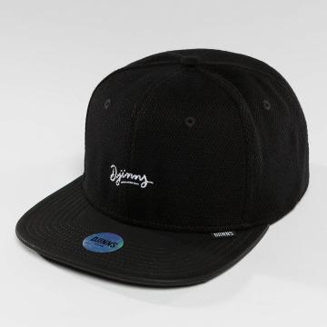 Djinns snapback cap 6 Panel Piki Leather zwart