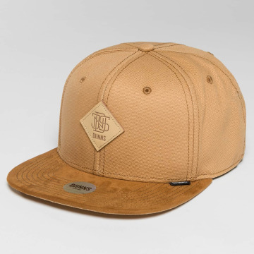 Djinns Snapback Caps 6 Panel Light Canvas beige