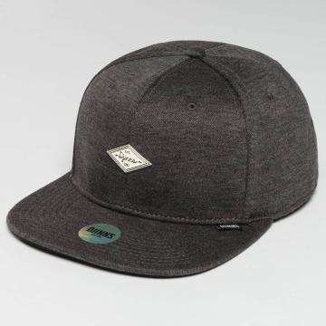 Djinns Snapback Caps 6 Panel Jersey Pin harmaa