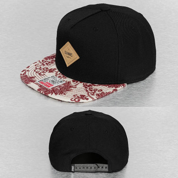 Djinns Snapback Caps Feather Crazy Pattern musta