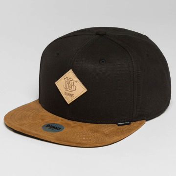 Djinns Snapback Caps 6 Panel Light Canvas musta