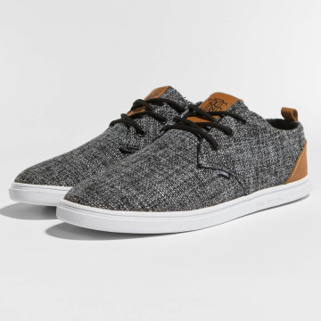 Djinns Sneakers Low Lau Colored Linen black